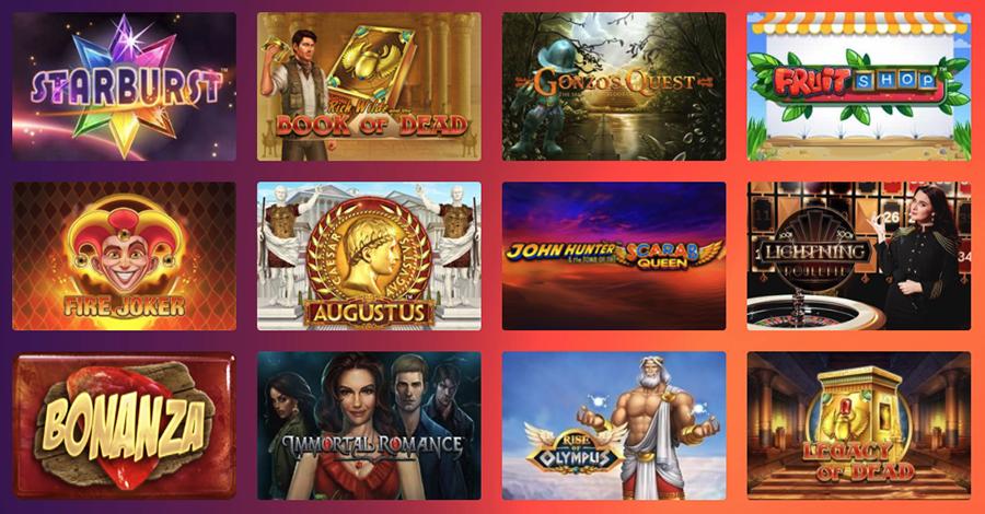 Casino Gods erbjuder ett brett spelutbud från välkända spelleverantörer