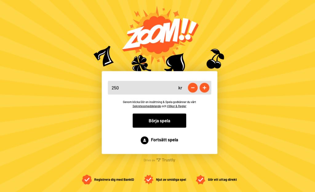Nya Pay N Play casinot Kazoom är nu lanserat även i Sverige